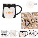 40cl animal mug, 4- times assorted