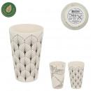 bamboo fiber tumbler 30cl, 2- times assorted