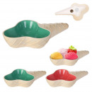 3-bowl cone ice cream dish, 2- times assorted