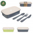 lunch box with knife and fork, 2-fold
