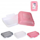 double opening lunch box, 3- times assorted