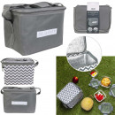 gray lunch bag, 2- times assorted