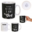 black and white mug xxl 80cl, 2- times assorted