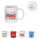 mug frenchy 30cl, 4-fois assorti