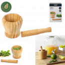 bamboo pestle and mortar