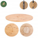 round bamboo turntable