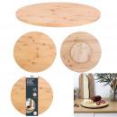 kerek bambusz lemezjátszó