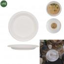 assiette ronde en canne a sucre 17cm x10