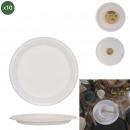 assiette ronde en canne a sucre 25cm x10