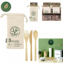 wholesale Other: reusable bamboo cutlery with pouch