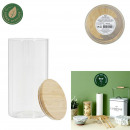 glass and bamboo jar 1.2l