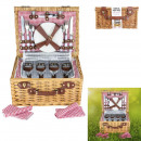 picnic basket with dishes