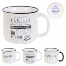 mug Vintage family 30cl, 3- times assorted