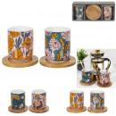 ingrosso Casalinghi & Cucina: tazza da tè x2 porta bambù scatola da 15 cl, ...