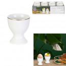 golden border egg cup