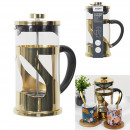 60cl golden metal French press