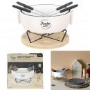 plate warmer and picnic fondue set x4