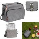 Großhandel Sonstige: graue Lunch-Tasche mit Reißverschluss 25,4 x 20,3