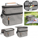 wholesale Other: gray lunch bag with zip 26.7x27.9x17.8cm