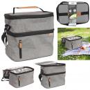 Großhandel Sonstige: graue Lunch-Tasche mit Reißverschluss 26,7 x 27,9