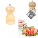small wooden salt and pepper mill