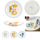 wholesale Crockery: plate arty 20cm, 3- times assorted