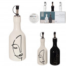 arty ceramic oil and vinegar bottle, 2-fold