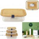 104cl Lunchbox aus Glas und Bambus