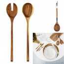 acacia serving cutlery