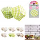 Mold muffin paper x48 9cm, 6-fold assorted