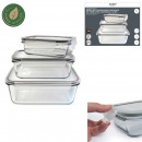 Flat glass oven with hermetic cover x3, 4-fold