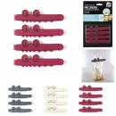 crocodile clip x4, 3-times assorted