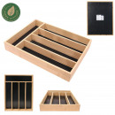wooden cutlery storage 5 compartments