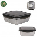 square stainless steel storage box
