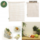 reusable mesh bag coton x2