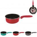 grossiste Pots & Casseroles: casserole alu presse tous feux couleur 18cm, 3-foi