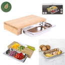 wholesale Household & Kitchen: cutting board with integrated drawer 32.5x16.2x5.5