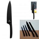 Großhandel Puppen & Plüsch: Messer schwarze Edelstahlklinge 20cm