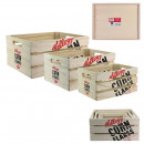 storage box x 3 kellogg's, 1- times assorted