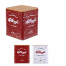 metal box with wooden kelloggs cover, 2-fold ass