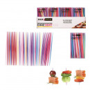 Toothpick plastic x250 assorted colors, 1-fo