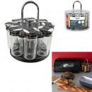 carrousel epices 8 pots couvercle plastique