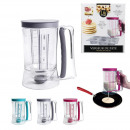 Pour cake batter has a piston 900ml, 3-times Assor