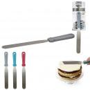 lapos spatulával cukormáz genoise 3 színben, 3-fo
