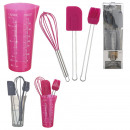 wholesale Casserole Dishes and Baking Molds: Utensil patisserie x4, 2-fold assorted