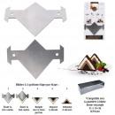 racloir special buche triangle 2 tailles