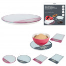 digital scale slim glass round or rectangle, 4-