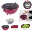 passoire saladier ronde 2en1 cook concept, 3-fois