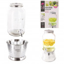 wholesale Drinking Glasses: Fountain glass and tin 3.75l, 1-fold assorted