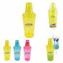 550ml plastic shaker, 3-times assorted